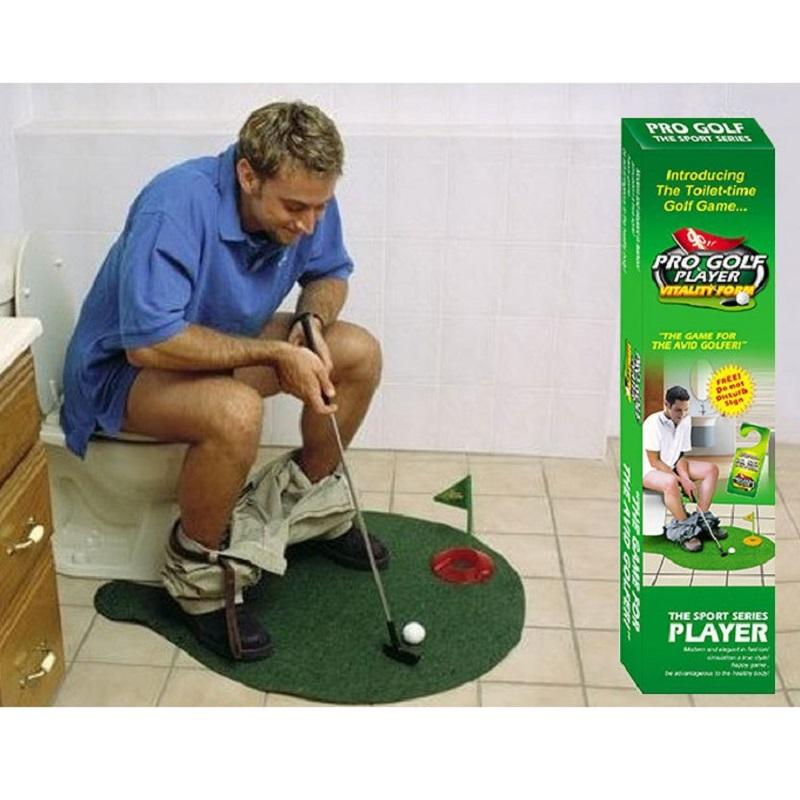 2016 New strange Creative Toys toilet-time Golf game interesting Indoor Leisure Sports Toys mini Golf(China (Mainland))