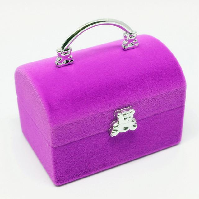 Mini cute jewelry box red velvet birthday valentine 39 s day for Red velvet jewelry gift boxes