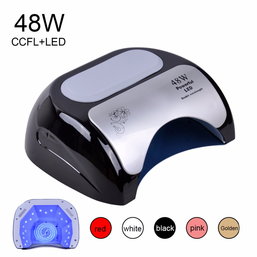 Professional 48 W CCFL LED Lamp Nail Dryer For Nail Gel Polish Curing Nails Lamp Dryers Art Manicure Automatic sensor US EU Plug(China (Mainland))