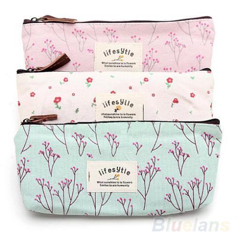 Гаджет  Hot Sale New Flower Floral Pencil Pen Canvas Case Cosmetic Makeup Tool Bag Storage Pouch Purse None Камера и Сумки