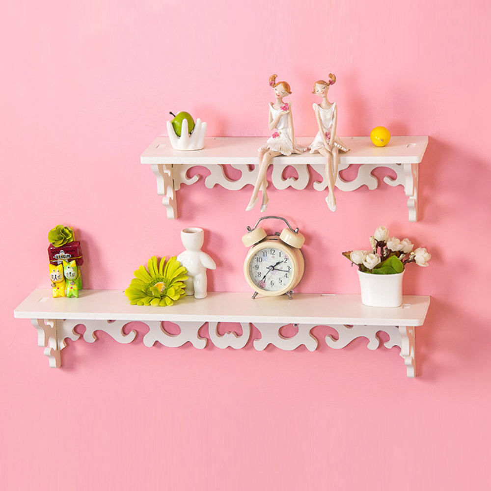 1pc/lot White Wall Hanging Shelf Goods Convenient Rack Storage Holder Home Bedroom Decoration Ledge Home Decor Worldwide Store(China (Mainland))
