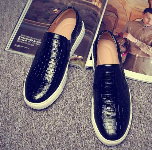 New 2016 Moccasin PU Leather Shoes Men Loafers Fashion Man Casual Shoes Men Flats Golden Shoes Lazy  Fashionable men shoes