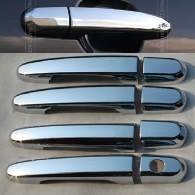 ACCESSORIES FIT FOR 2005 2006 2007 2008 2009 2010 KIA SPORTAGE CHROME SIDE DOOR HANDLE BAR COVER CATCH TRIM MOLDING CAP MOULDING(China (Mainland))