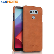 Buy Case LG G6, KEZiHOME Frosted Genuine Leather Hard Back Cover capa LG G6 5.7'' Phone Protector cases coque for $9.63 in AliExpress store