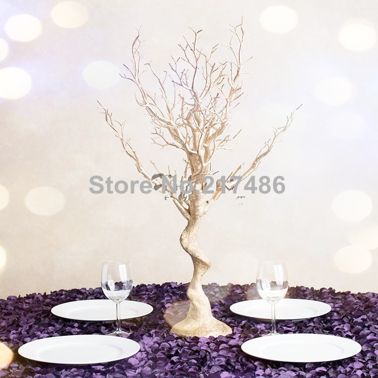 (no crystal including )gold manzanita tree wedding, wedding table tree centerpieces(China (Mainland))