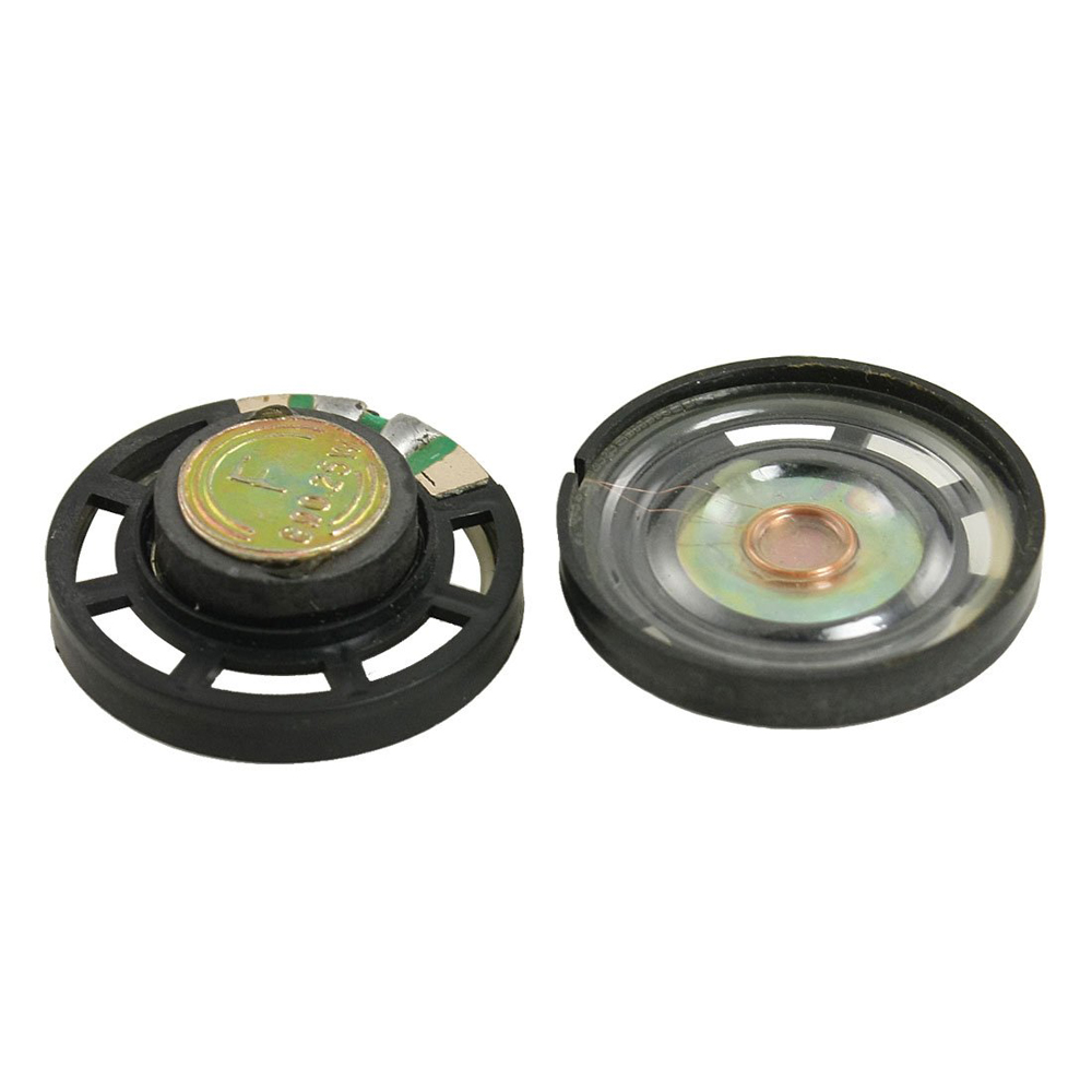 External Magnetic Type Round Plastic Shell Speaker 8 Ohm 0.25W 2 Pcs(China (Mainland))