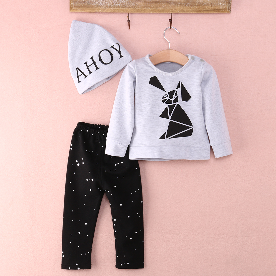 2016 Autumn Style Baby Clothing Set Cotton Newborn Baby Girl Clothes Sets Baby Boy Suit<br><br>Aliexpress