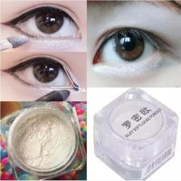 Brand Silky Shimmer Highlighter Soft Loose Mineral Powder Makeup Smooth Brighten White Highlight Eye Shadow Powder Maquiagem(China (Mainland))