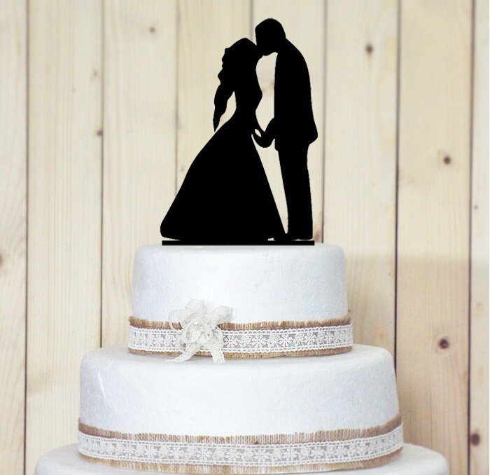 Personalized Acrylic Cake Topper Wedding Cake Topper Groom And Bride Kisses AE02162