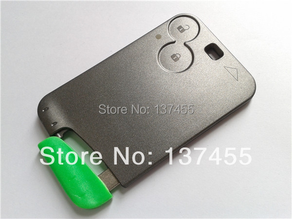 Replacement key forrenault Laguna 2 button smart key case with blade no logo renault key fob(China (Mainland))
