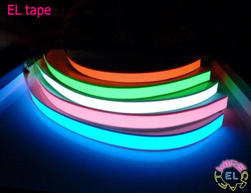 1m 3V Battery Case Flexible Led Tape Neon Light Glow EL Wire Rope Cable Water
