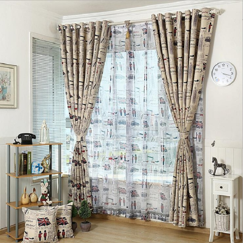 Vintage sheer curtains promotion shop for promotional - Cortinas vintage dormitorio ...