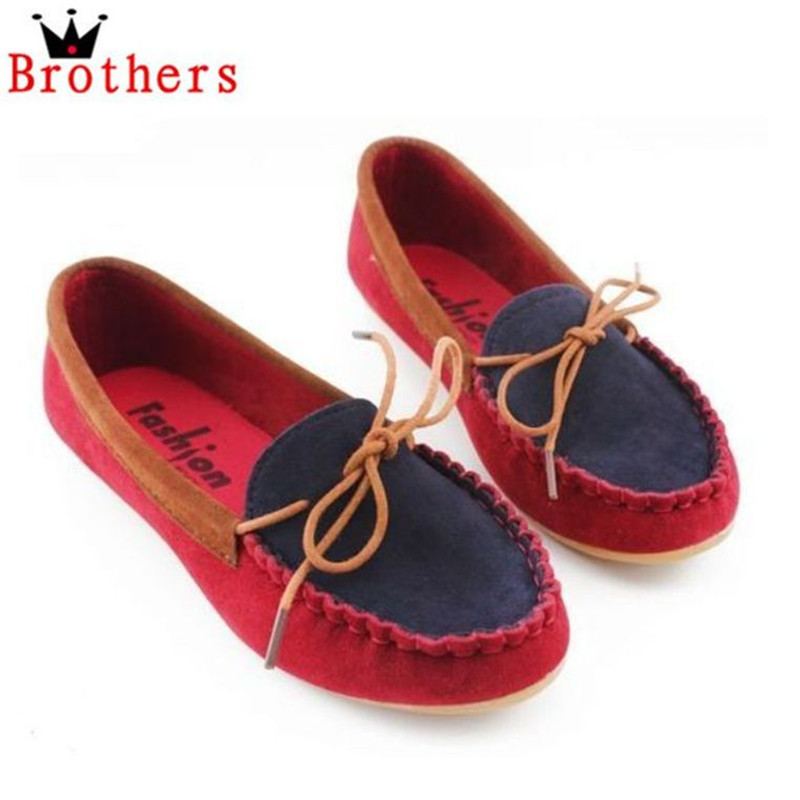 2014 NEW Spring Boat Shoes Flat Heel Round Toe Gommini Loafers Sweet Flat Four Seasons Shallow Mouth Womens Shoes 3Colors<br><br>Aliexpress