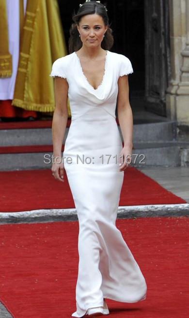 Cap рукавом платье невесты глубокий V шеи русалка тонкий белый модест горничной Vestido ну вечеринку платье молния назад длиной до пола для свадьбы