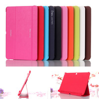 New Arrival Business Flip Ultra Thin Leather Case For Samsung Galaxy Tab 4 10.1 T530 T531 T535 Folding Stand BOOK Cover 6 Colors