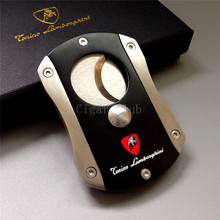 New Arrival Mini Gadget Pocket Size High Quality Stainless Steel Sharp Dual Blades Latch Closed Cigar Cutter W/ Gift Box