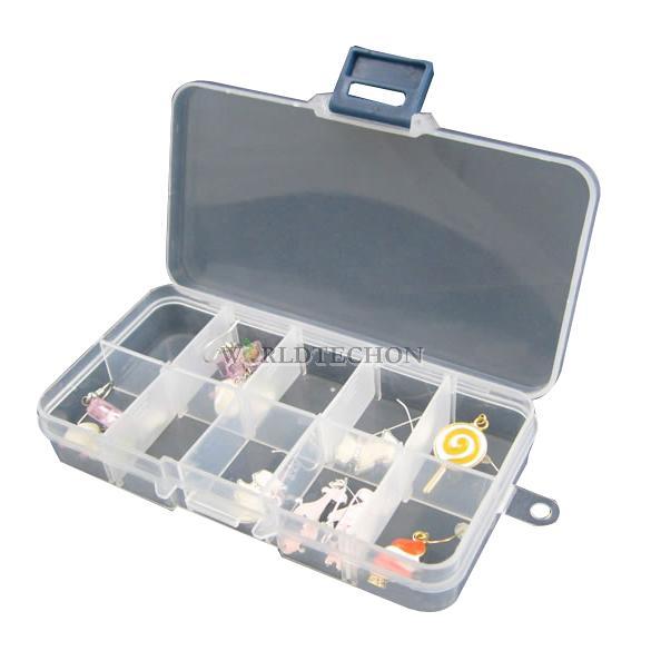 W7T Home 10 Slot Jewelry Rings Adjustable Tool Box Case Craft Organizer Storage Beads(China (Mainland))