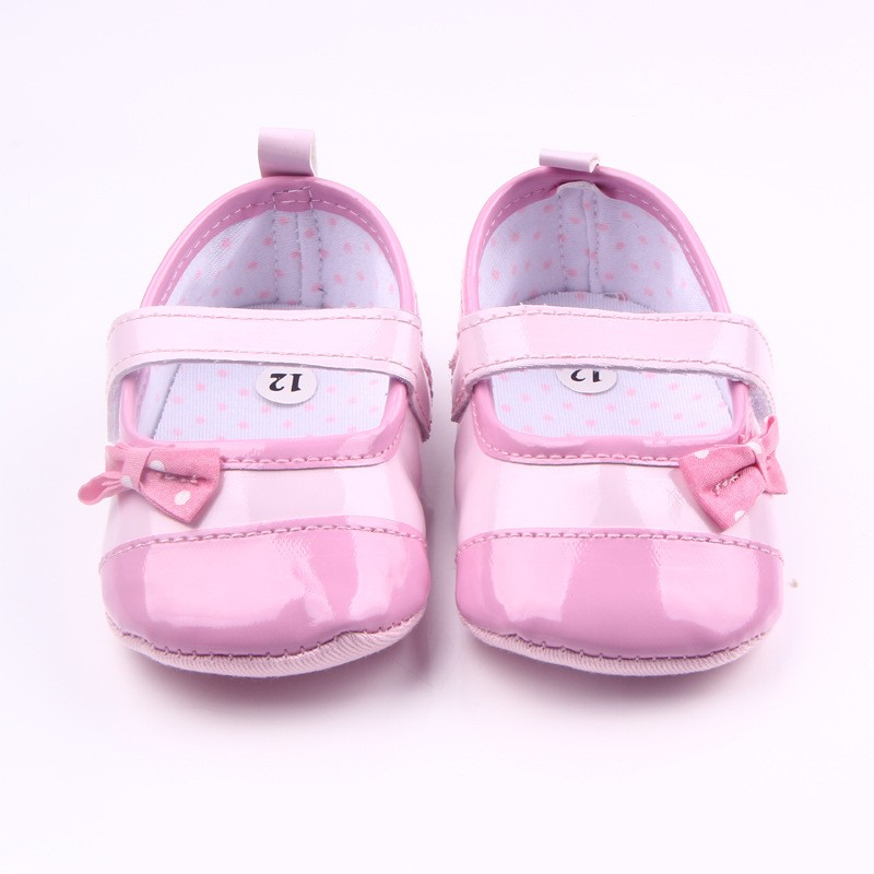 Best Selling Newborn Baby Shoes PU Leather Pink Princess Baby Girls Shoes Brand Kids First Walkers Soft Soled Anti-Slip Shoes(China (Mainland))