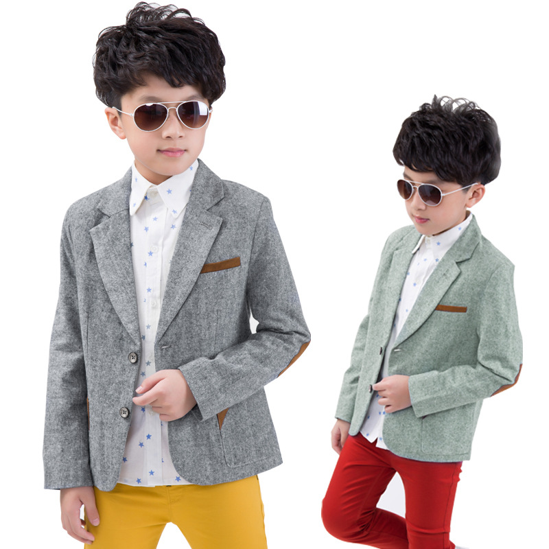 Kids Blazer Boys Long Sleeve Autumn 2015 Fashion Boy Casual Blazers Jacket Korean Style High ...