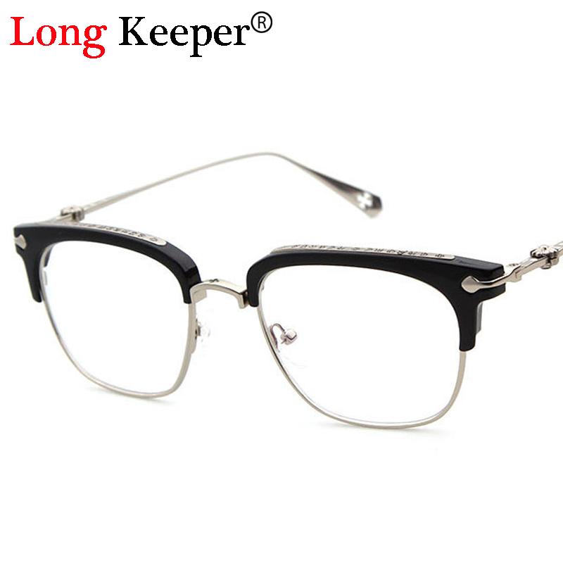 long keeper brand design gold metal eyeglasses frame for women oversized square eyeglass frames eyewear with