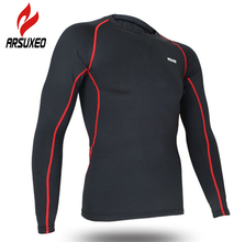Buy ARSUXEO Men's Gym Running Sports Long Sleeve Fitness Training Quick Dry Cycling Jersey Base Layers Compression Tights Clothing for $12.16 in AliExpress store