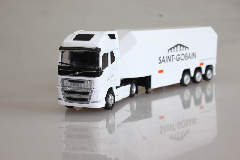 eligor 1:87 volvo FH4 750eev Container truck alloy car model white(China (Mainland))