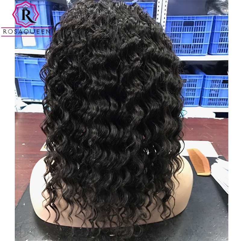 7A 360 Lace Frontal Wig Mink Brazilian Deep Wave Full Lace Human Hair Wigs 180% Density Lace Front Human Hair Wigs 360 Lace Wig