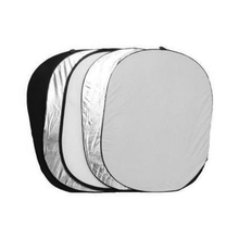 ASHANKS Round Flash Photo Studio Collapsible Light Reflector 60X 90CM Golden Silver White Translucent Observing claquete