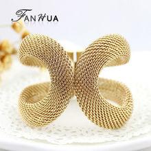 Cuff Bracelets Gold Silver Color Pulseiras Femininas Wide Big Bangles Hot Sale Bijoux For Women(China (Mainland))