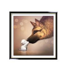 Buy Diamond Mosaic Cross Stitch 5D DIY Diamond Embroidery Dog Shape Diamond Paste Diamond Painting Home Decoration 35x35cm for $2.63 in AliExpress store