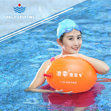 Water Safety Products Aviation Gas Nozzle Dual Airbags Swim Float Swim Bag Lifesaving Ball Stooge Life Buoy(China (Mainland))