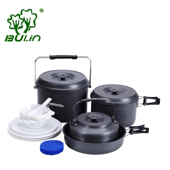 7 Persons Outdoor Camping Cookware Camping Cooking Pots And Pans Set Hiking Cooking Set