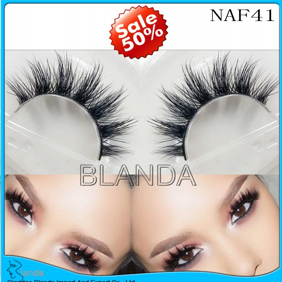UPS Free Shipping 200Pair 100% Real Mink Natural Thick False Fake Eyelashes Eye Lashes Makeup Extension Beauty<br><br>Aliexpress