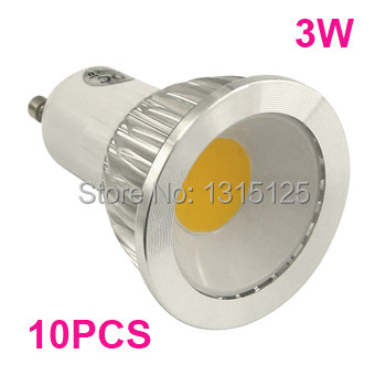 3W  led cob spotlight GU10 Spot light  High power LED bulb lamps AC 85~265V CE ROHS x 10pcs + free shipping<br><br>Aliexpress