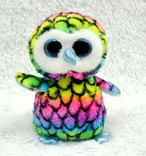 Hot Ty Beanie Boos Original Big Eyes Penguin Plush Toy Doll Child Birthday Owl Baby 18cm - KaiXin GuoGuo TOY store