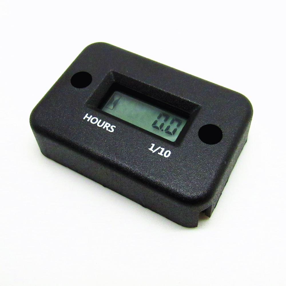 BLACK Digital Engine Hour Meter Inductive Waterproof LCD Hourmeter for Motorcycle Dirt Quad Bike Marine ATV Snowmobile Y1002B(China (Mainland))