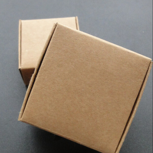 DHL 750 Pcs/Lot 7.5*7.5*3.5cm Brown DIY Soap Biscuits Kraft Paper Pack Packing Box Small Wedding Gift Food Event Packaging Box(China (Mainland))