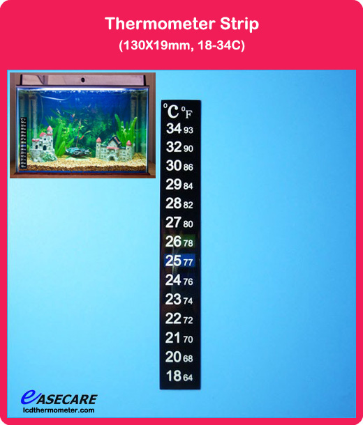 Free Shipping by DHL 500pcs/lot Aquarium Thermometer for Fish Tank, 18-34 degree in Celsius and Fahrenheit scale(China (Mainland))