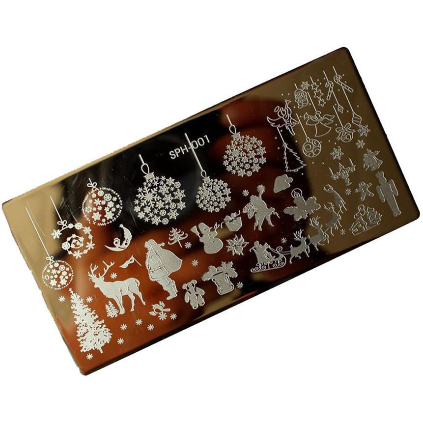 ColorWomen 1pc Christmas Series DIY Nail Art Image Stamp Stamping Plates Manicure Template 160829(China (Mainland))