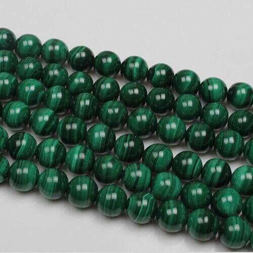 Natural Stone Beads Green Malachite Round 6mm/8mm/10/mm Malachite Beads 50Pcs/Bag DIY Loose Bead for Bracelet Jewelry Making