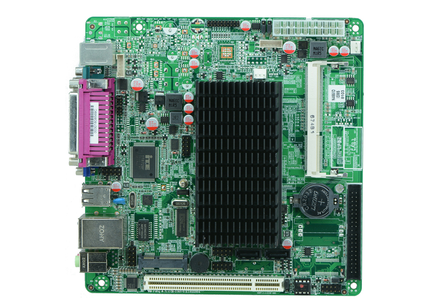 Mini Itx industrial motherboard Intel Atom N455 CPU Fanless POS motherboard(China (Mainland))
