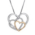2016 New 3 Heart Pendant Necklace Fashion Rhinestone Trendy Necklace For Valentine s Day Gift