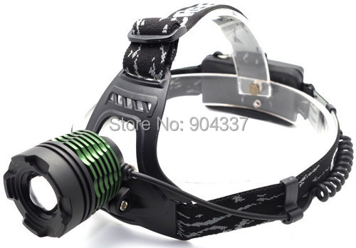 2000Lm CREE XM-L T6 LED Zoom HeadLight HeadLamp Zoomable Head lamp +2*18650 Battery +Power Charger(China (Mainland))