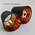 2PCS Modern Fashion Black gold color plastic lamp shade covers PVC lampshades E14