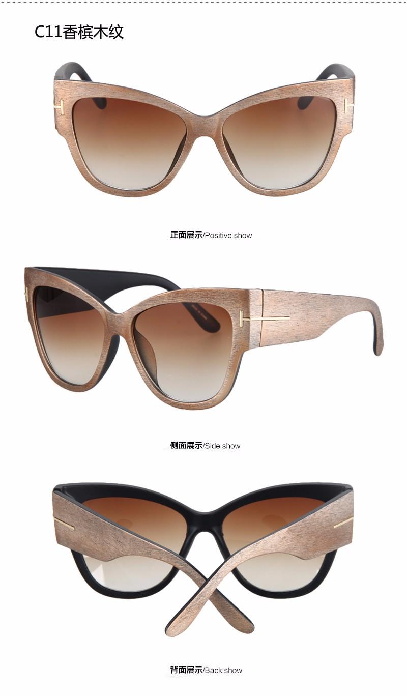 2016 NEW Gradient Points Sun Glasses  High Fashion Designer Brands For Women Sunglasses Cat eyes 9 Color oculos de sol