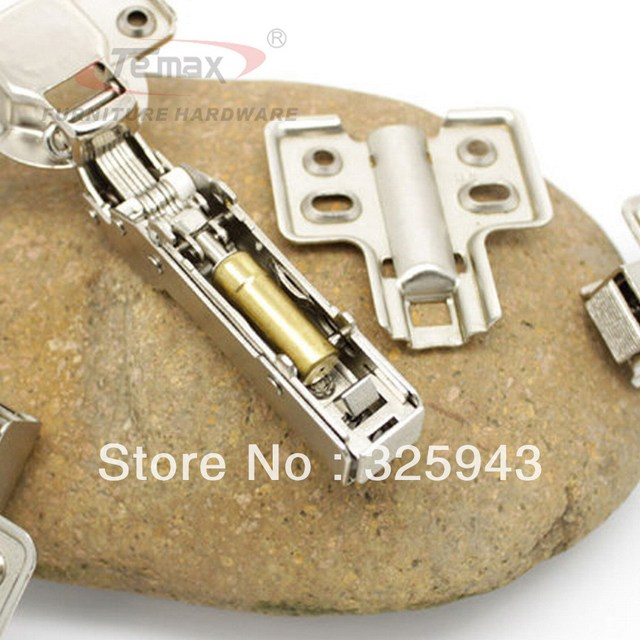 Free Shipping 35mm Cup Full Overlay Soft Closing Furniture Cabinet Hydraulic Clip On Hinge Kitchen Door Hinge Brass
