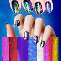 30 50 100 3 Kinds Art Nail Foils WrapsTransfer Glitter Sticker Polish Decoration Fashion Multi color