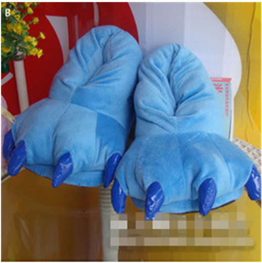 Lilo and Stitch Stitch Cosplay Adult Plush Rave Cute Shoes Slippers 11 Blue<br><br>Aliexpress