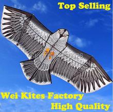 Freies Verschiffen with100m griff Linie Outdoor-spaß Sport 1,6 mt Adler Kite hochwertigen fliegen höher Große Drachen wei drachen fabrik(China (Mainland))