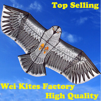 Free Shipping with100m handle Line Outdoor Fun Sports 1.6m Eagle Kite high quality flying higher Big Kites wei kites factory(China (Mainland))